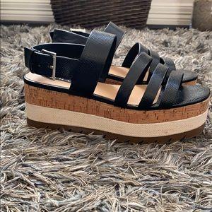 Platform sandals! Like new!